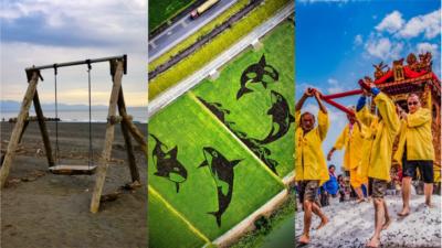 壯圍鄉辦空拍攝影徵選活動 用鏡頭紀錄彩繪稻田、海景鞦韆⋯⋯