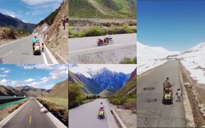 航拍紀錄旅程 90 後單親奶爸攜 4 歲女騎行去拉薩