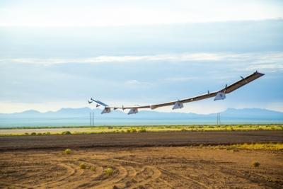 Sunglider 太陽能通訊無人機太空港首飛 測試平流層飛行表現
