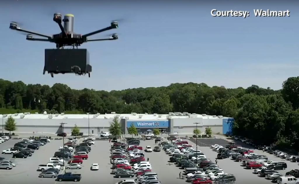 沃爾瑪啟動按需求無人機送貨試驗計劃 配送精選雜貨家用品