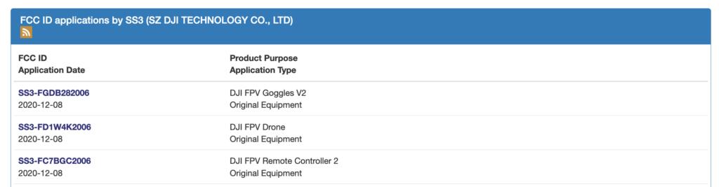 DJI FPV 穿越機提交 FCC 申請 預計最大可能今月底至下月初面世