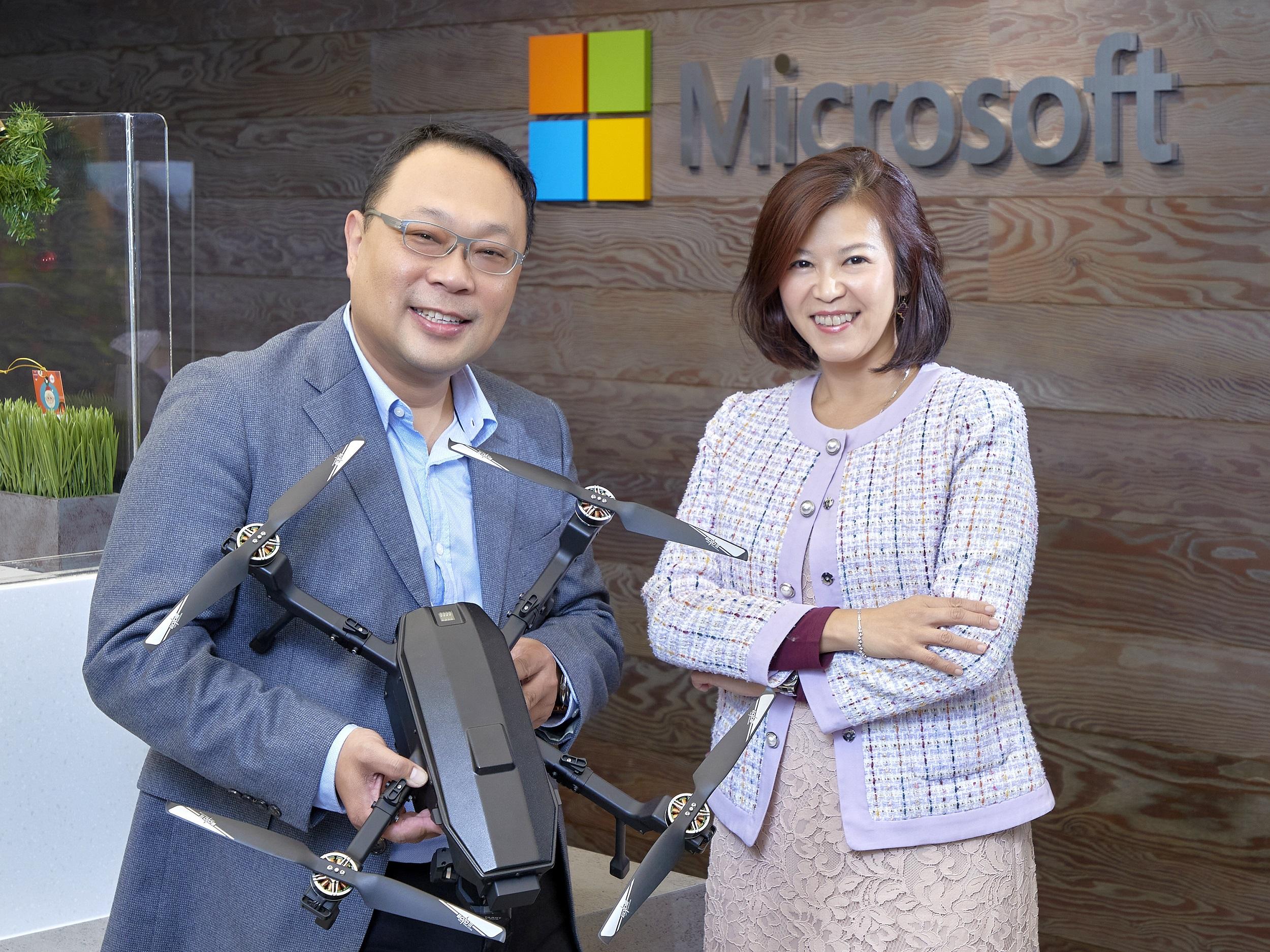 中光電智能機器人攜手微軟 打造智能自主安控無人機解決方案