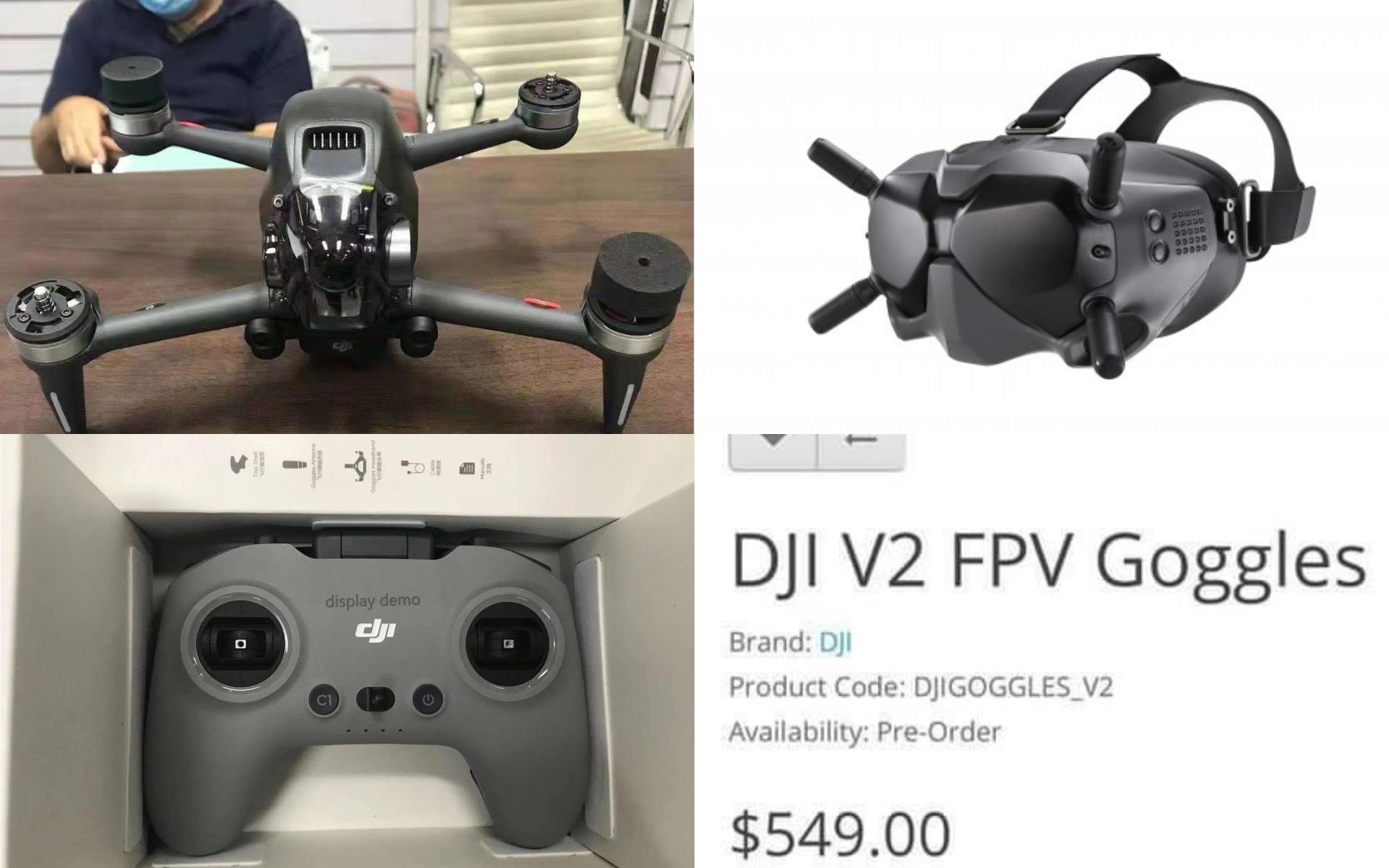 DJI FPV Goggles V2 售價搶先曝光? 更多穿越機諜照曝光
