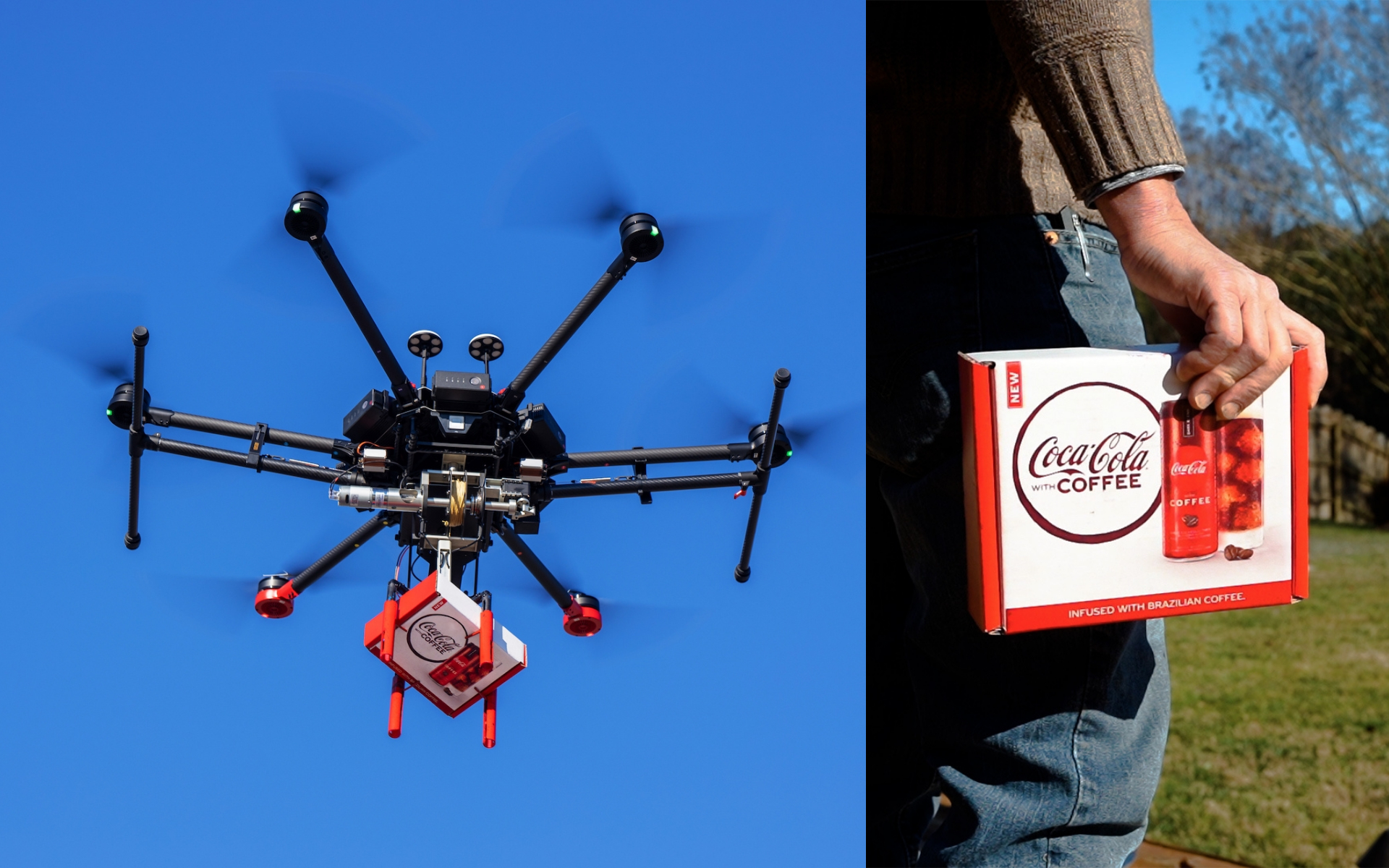 Coca-cola 夥沃爾瑪搞新意 無人機宅配新上市咖啡可樂