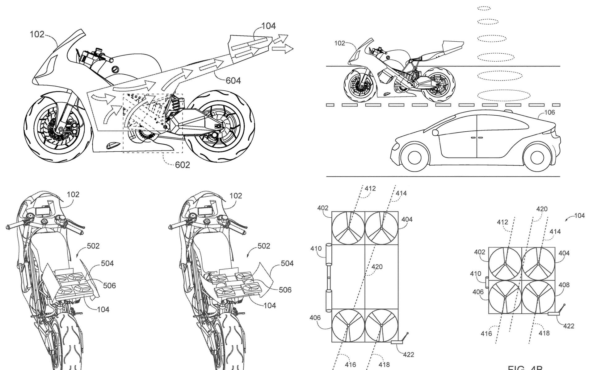 本田附無人機電動重型機車專利曝光 特別之處在於旋翼系統設計