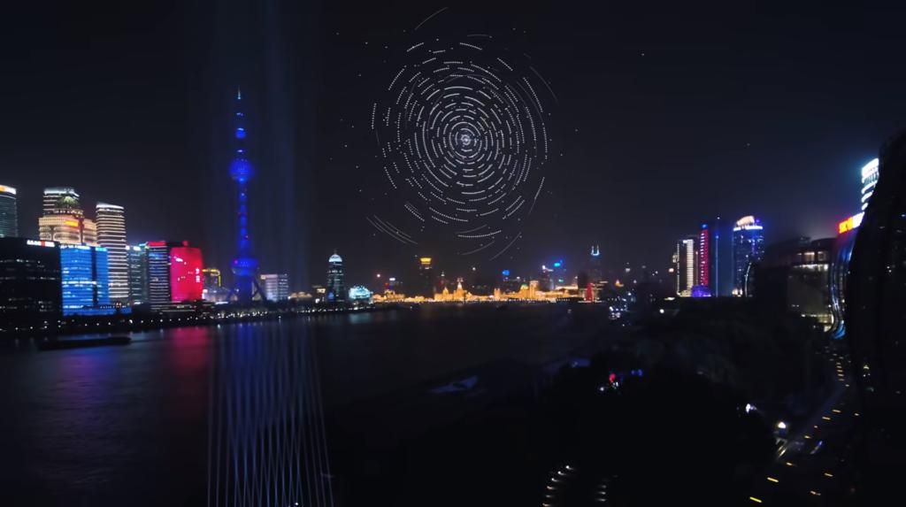 3,281 架無人機編隊表演賀 Genesis 豪車進軍中國 創新世界紀錄