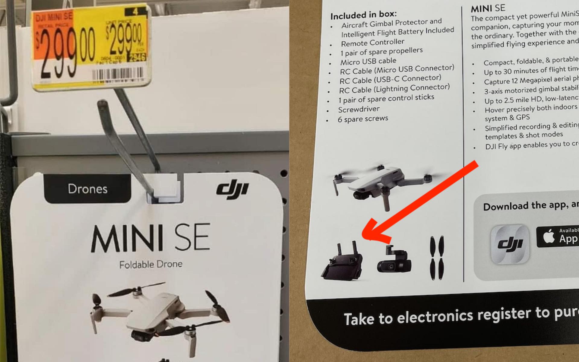 DJI Mini SE 疑似定價 299 美金 到底標配什麼遙控器?