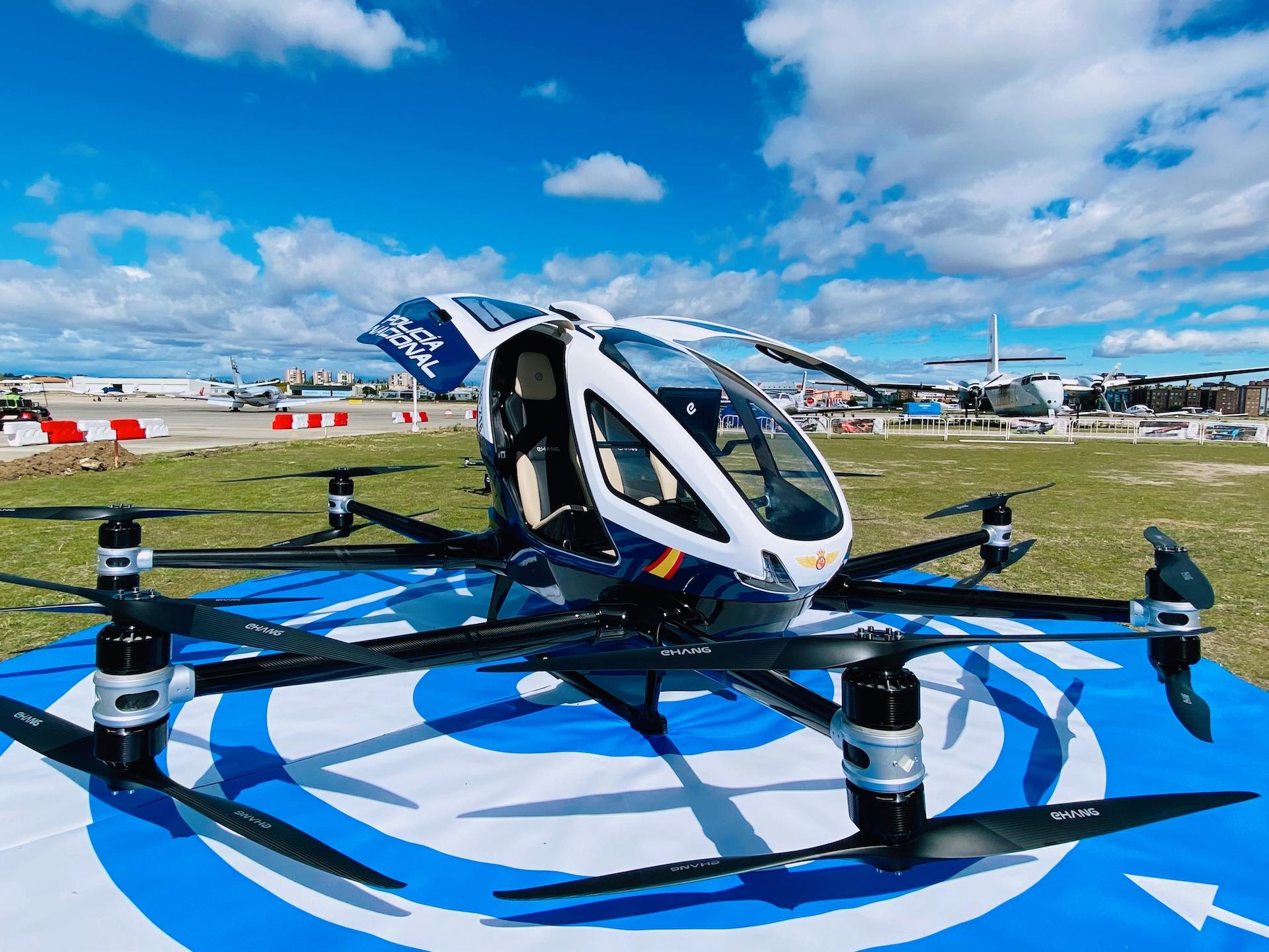 億航與西班牙國家警察合作 探索自動駕駛飛行器應急效用